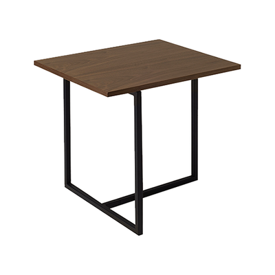 Felicity Rectangular Side Table - Walnut, Matt Black