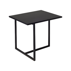 Santorini Rectangular Side Table - Black Ash, Matt Black