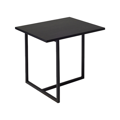 Felicity Rectangular Side Table - Black Ash, Matt Black