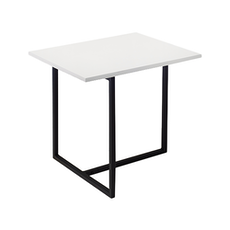 Santorini Rectangular Side Table - White, Matt Black