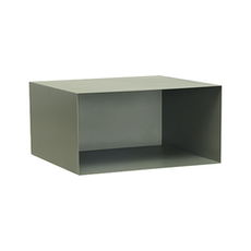 Baxter Rectangular Metal Box Shelf - Matt Grey