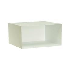 Baxter Rectangular Metal Box Shelf - Matt White