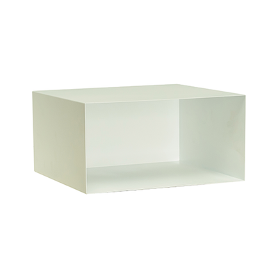 Baxter Rectangular Metal Box Shelf - Matt White - Image 1