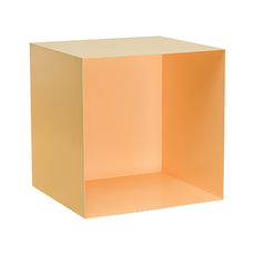 Baxter Square Metal Box Shelf - Matt Nude