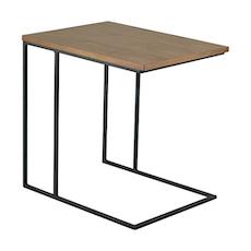 Myron Side Table - Walnut, Matt Black