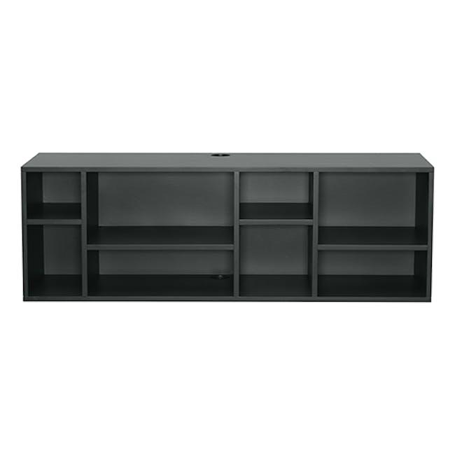 Liam Media Rack 1.2m - Charcoal Grey - 4