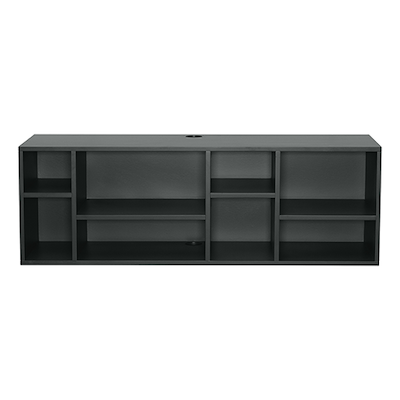 Liam Media Rack 1.2m - Charcoal Grey - Image 1