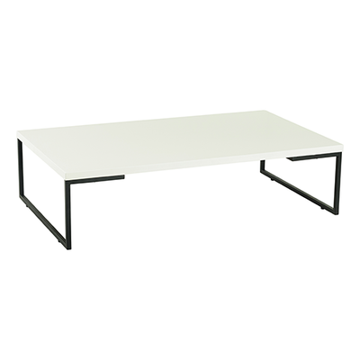 (As-Is) Myron Rectangle Coffee Table - White, Matt Black - 1 - Image 1