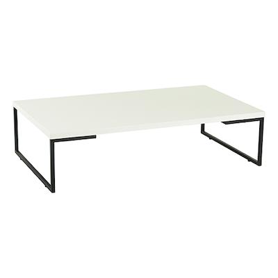 Myron Rectangle Coffee Table - White, Matt Black - Image 1