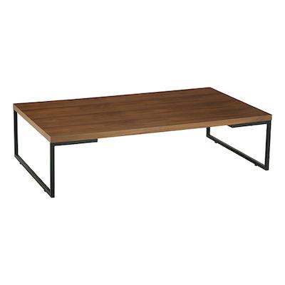 Myron Rectangle Coffee Table - Walnut, Matt Black - Image 1
