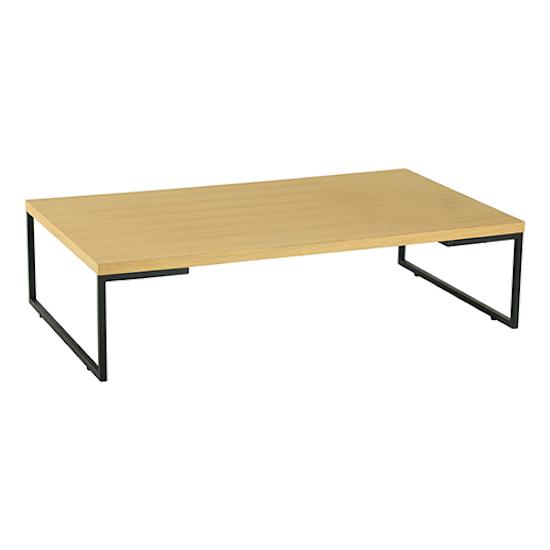 Hialeah Rectangle Coffee Table: Myron Rectangle Coffee Table - Oak, Matt Black, Malmo