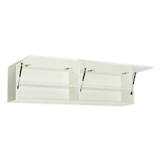 Vito 1.5M Hanging Cabinet - Walnut, White