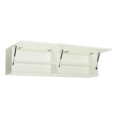 Vito 1.5M Hanging Cabinet - Walnut, White - Image 2