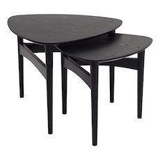 Poet Occasional Table Set - Black