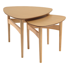 Poet Occasional Table Set - Oak