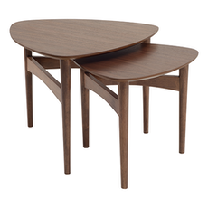 Poet Occasional Table Set - Walnut