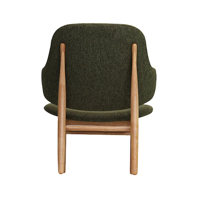 Adam 3 Seater Sofa in Stone with Veronic in Forest Green - 9