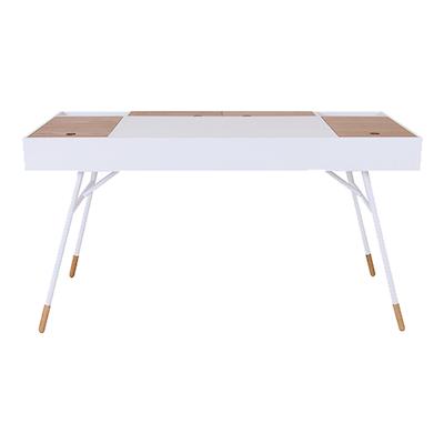 Morse Study Table - White, Oak - Image 2