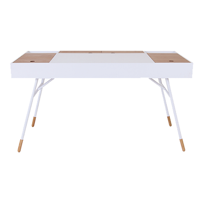 Morse Study Table - White, Oak