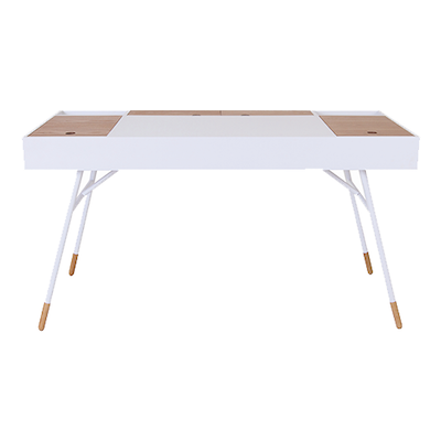 Morse Study Table - White, Oak - Image 2