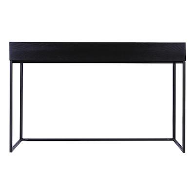 Miles Study Table - Black Ash, Matt Black - Image 1