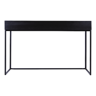 Miles Study Table - Black Ash, Matt Black - Image 1