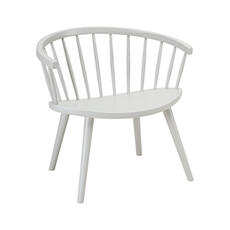 Moke Lounge Chair - White Grey