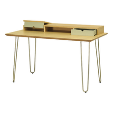 Ingram Study Table - Oak, Dust Green