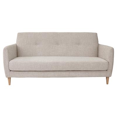 Elise 3 Seater Sofa - Almond - Image 1