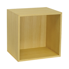 Hugh Shelf with Back Panel - Medium, Oak