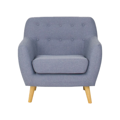 Emma 1 Seater Sofa - Blue - Image 1