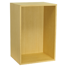 Hugh Shelf with Back Panel - Large, Oak