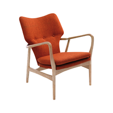 Uta Lounge Chair - Russet, Oak