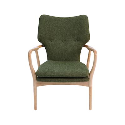 Uta Lounge Chair - Ruby, Walnut - Image 2