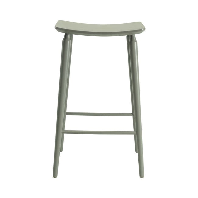 Hester Bar Stool - Charcoal Grey Lacquered - 1