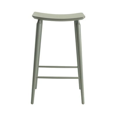 Hester Bar Stool - Charcoal Grey Lacquered