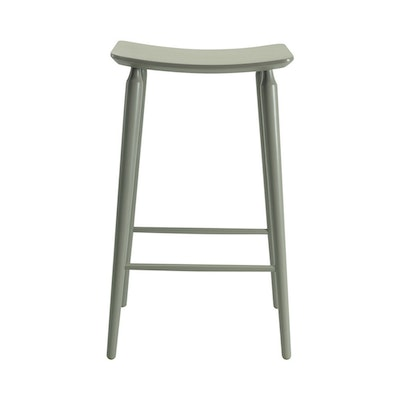 Hester Bar Stool - Grey Lacquered - Image 2