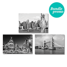 Monochrome City Print  Poster Bundle