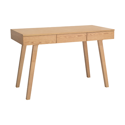 Ezra 3 Drawer Working Desk - Natural - Image 1
