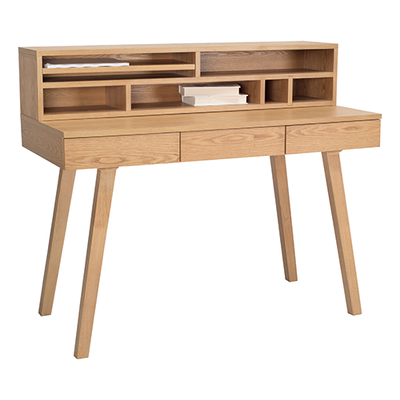 Ezra 3 Drawer Working Desk - Natural - Image 2