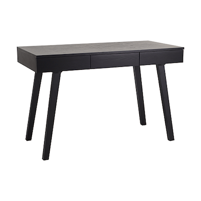 Ezra 3 Drawer Working Desk - Black Ash - Image 1