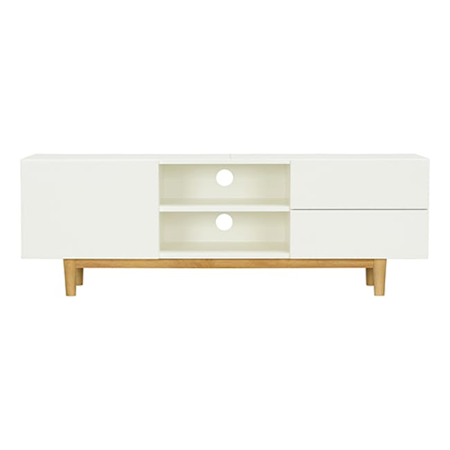 Aalto TV Cabinet 1.6m - White, Natural - 8