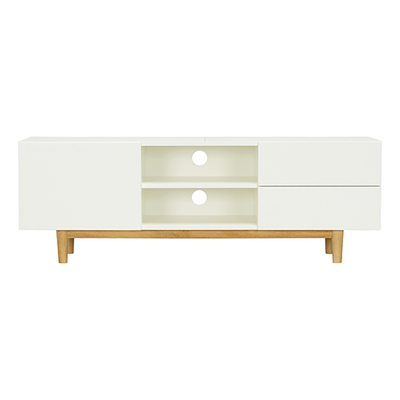 (As-is) Aalto TV Cabinet 1.6m - White, Natural - 3 - Image 1