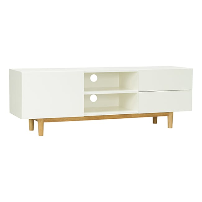 Aalto TV Cabinet 1.6m - White, Natural - 2