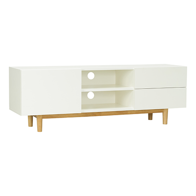 Aalto TV Cabinet 1.6m - Natural, White - Image 2