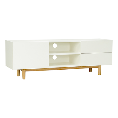 Aalto TV Cabinet - Natural, White - Image 2