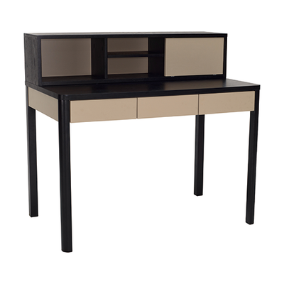 Mabon Working Desk - Black Ash, Taupe Grey