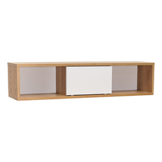 Mabon Wall Storage Unit - Natural, White