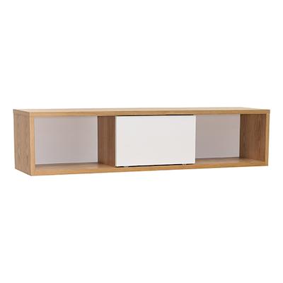 Mabon Wall Storage Unit - Natural, White - Image 1