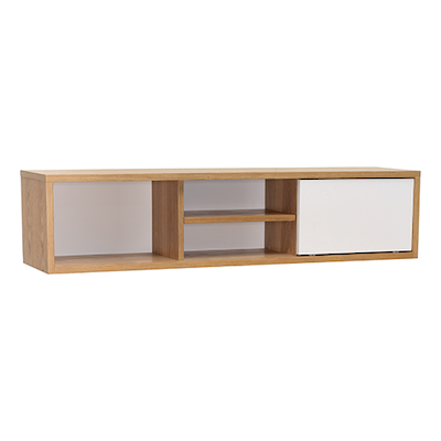 Mabon Wall Storage Unit - Natural, White - Image 2